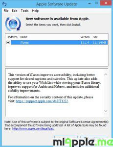 iTunes 11.1.4 for Windows release notes