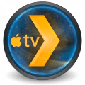 Plex icon with Apple TV logo