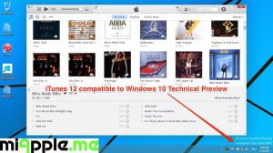 iTunes 12 compatible to Windows 10 Technical Preview