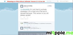 WhatsApp 2.11.8 too old version