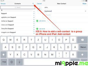 iOS 8: Add contact to group - new contact