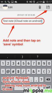 android Notepad sync iCloud notes_06_adding note from android to iCloud