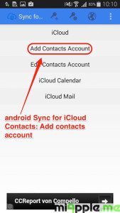 android Sync for iCloud Contacts_03_add contacts account