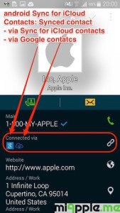 android Sync for iCloud Contacts_08_synced iCloud contact