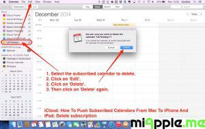 iCloud push subscribed calendars: Delete subscription