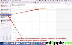 iCloud push subscribed calendars: New subscription