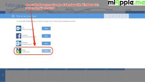 OneCalendar syncs Google Calendar with Windows 10_01_Select Gmail account