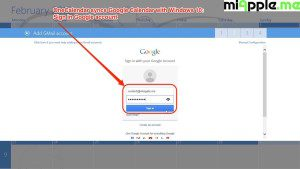 OneCalendar syncs Google Calendar with Windows 10_02a_Sign in Goggle account
