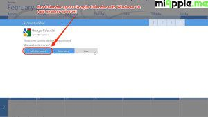 OneCalendar syncs Google Calendar with Windows 10_04_add another account or close
