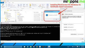 Installing PlexConnect On Windows 10_Certificate import successful