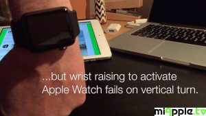 Apple Watch Activation on Wrist Raise not working in vertical turn