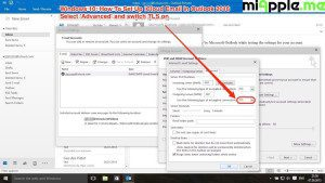 iCloud email in Outlook 2016 on Windows 10_05_advanced settings