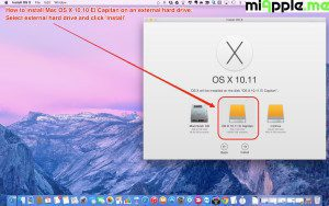How to install OS X 10.11 El Capitan on external drive
