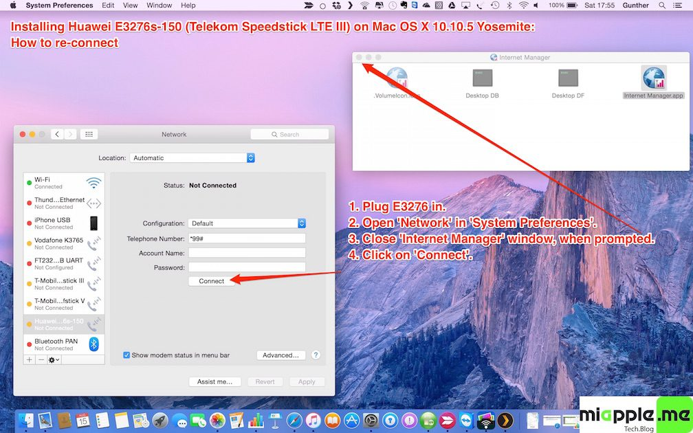 Installing Huawei E3276s-150 on OS X 10.10.5 Yosemite_7_How to reconnect