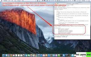 System Integrity Protection disable csrutil on OS X 10.11 El Capitan_4_check disabling csrutil after rebooting