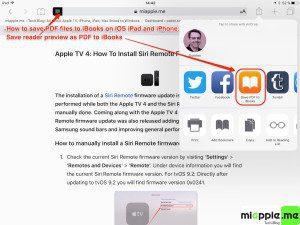 Save PDF to iBooks on IOS iPad and iPhone_02_exporting reader preview