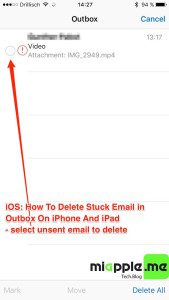 iOS_delete stuck email in outbook on iPhone and iPad_03_select unsent email to delete