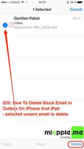 iOS_delete stuck email in outbook on iPhone and iPad_04_selected unsent email to delete