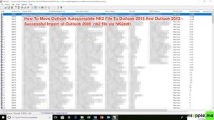 Moving Outlook Autocomplete to new profile or PC via NK2edit_03_successful import of Outlook 2006 .nk2 file