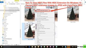 HEIF viewer on Windows 10_convert HEIC extension images to JPEG with CopyTrans HEIC viewer
