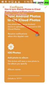 Sync Android Photos to iOS iCloud Photo_03_IFTTT receive notifications when applet runs