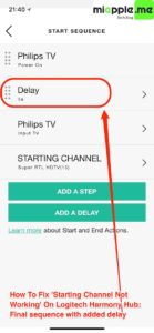 Logitech harmony hub_TV starting channel not working_07_final sequence with added delay
