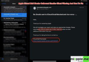 iCloud Mail Silent Filtering_04_Auto-Response iCloud Mail Postmaster